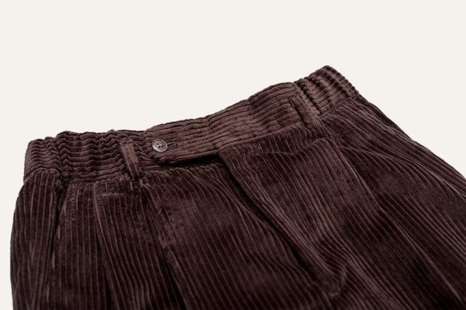 ceinture elastique pantalon marron velours athi editions