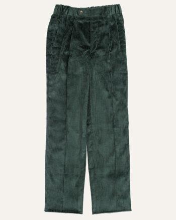 Pantalon double plis velours vert athi editions
