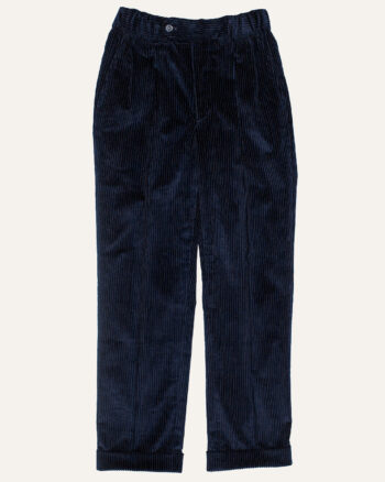 Pantalon en velours bleu nuit Athi Editions