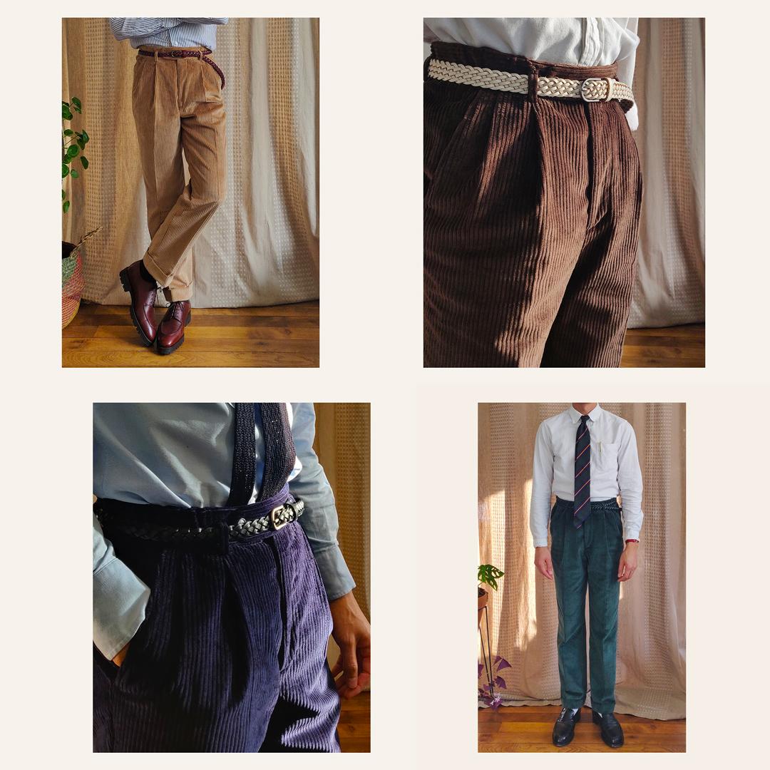 Pantalons en velours couleurs Athi Editions