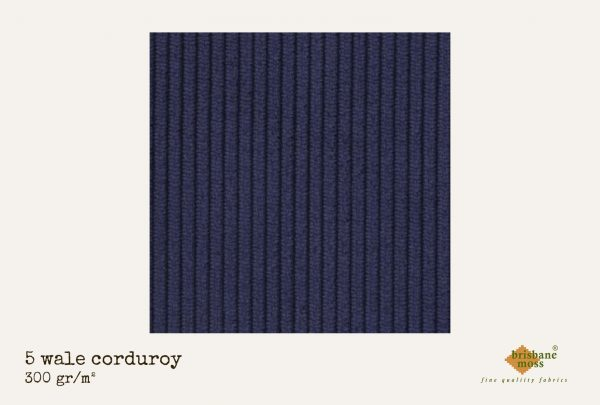 Tissu velours bleu Brisbane Moss
