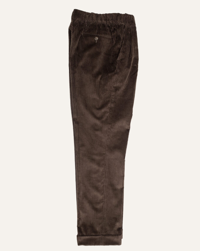 pantalon marron velours