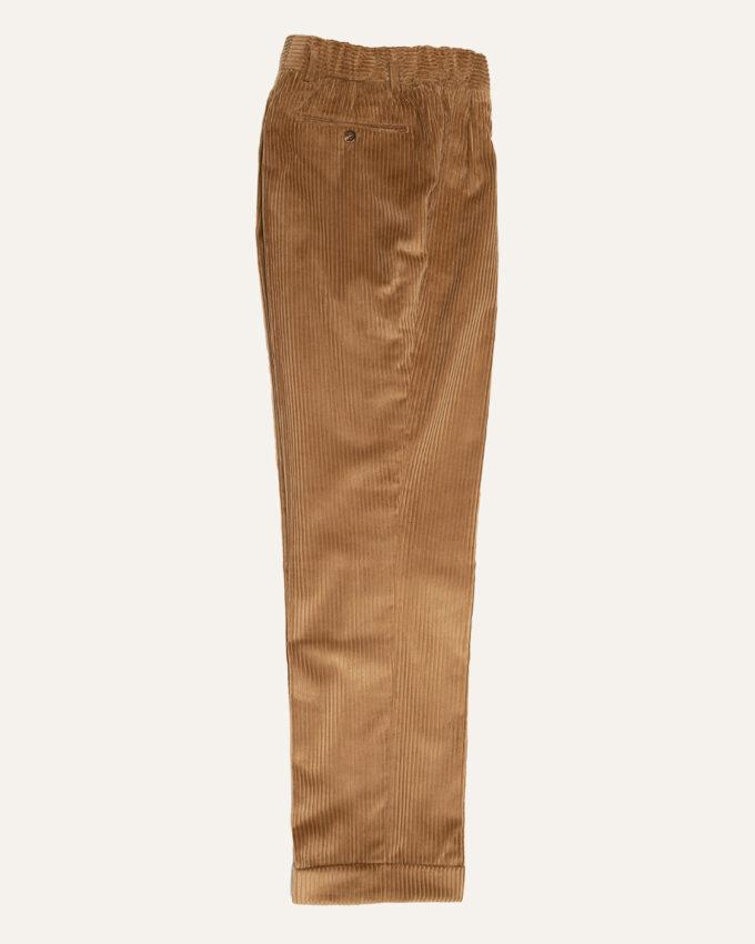 pantalon beige en velour athi editions