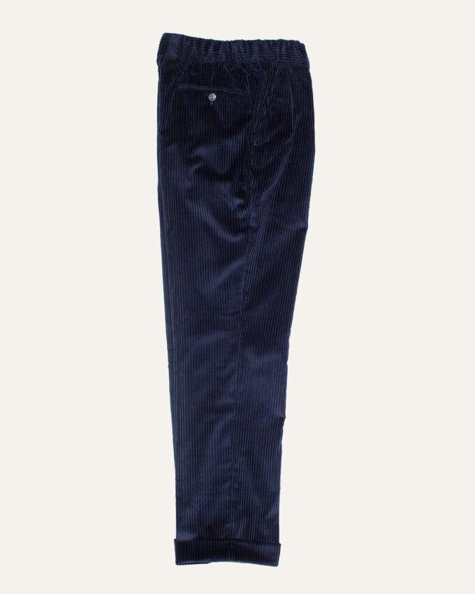 pantalon a double plis bleu nuit